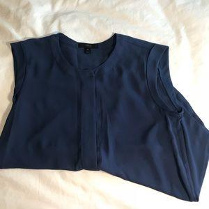 J. Crew navy sleeveless blouse